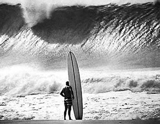 308bw Greg Noll Pipeline 1964 Da Bull Black White